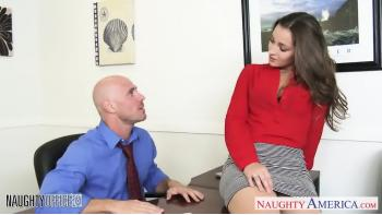 Chaud Office Babe Dani Daniels Équitation Bite